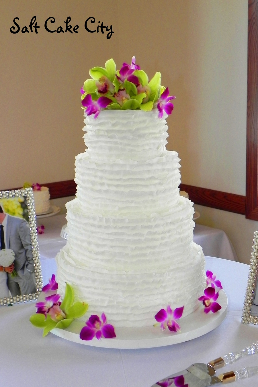 All Ruffled Wedding Cake on Cake Central