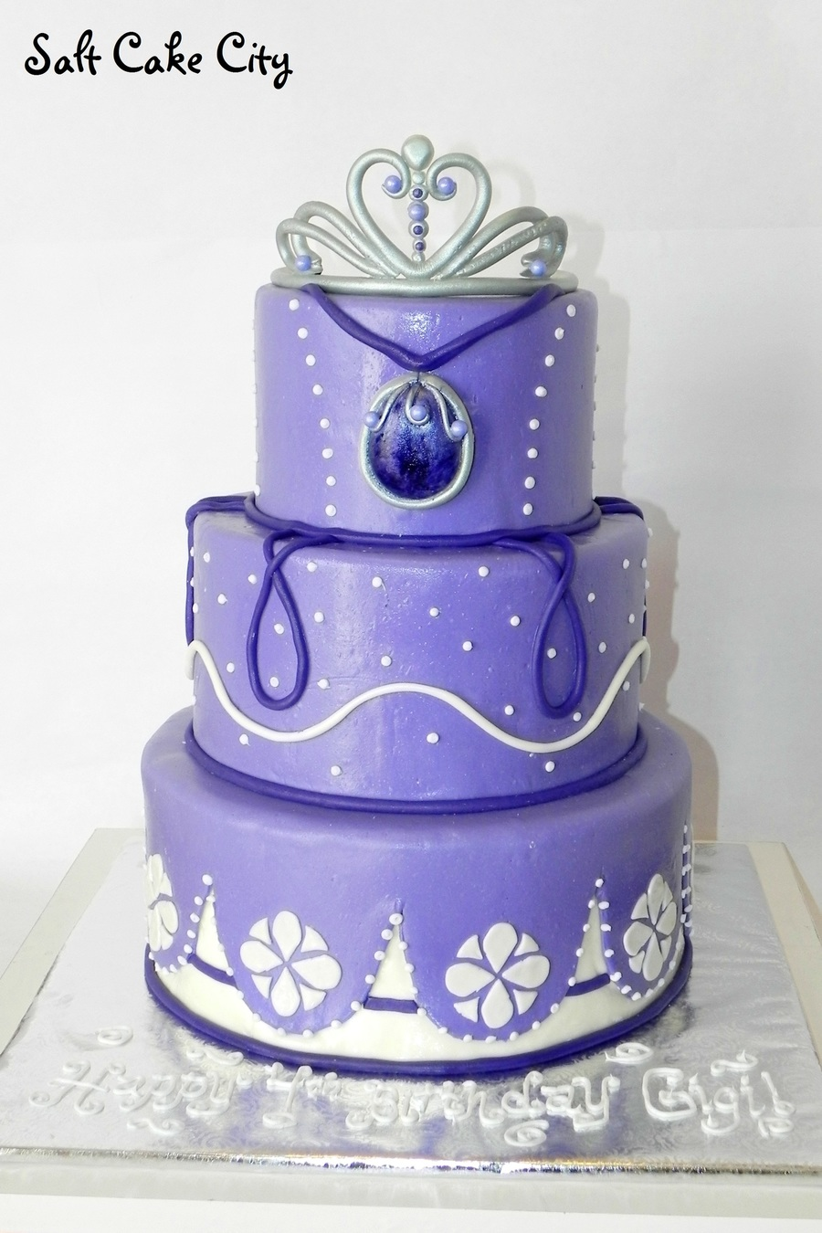 Sofia The First Fondant Cake