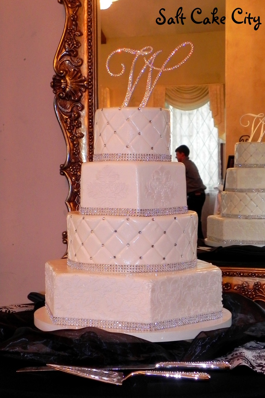 Blinged Out Wedding Cake Cakecentral Com