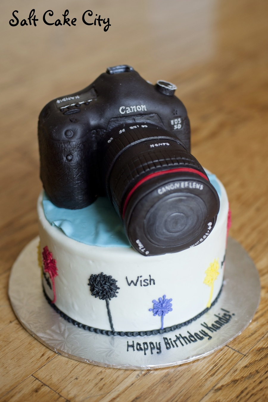 Canon Camera Cake Tutorial