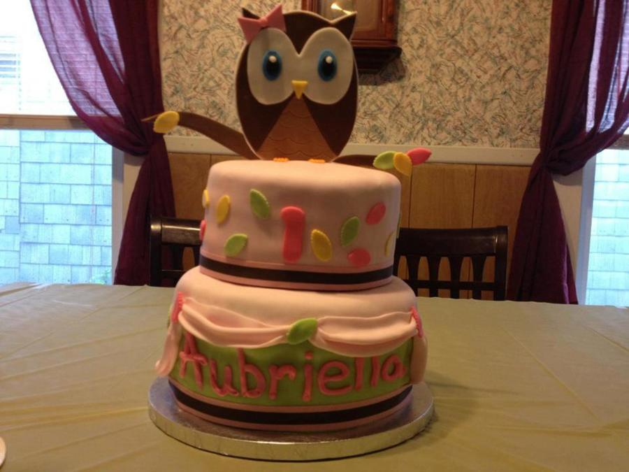 Owl Themed 1St Birthday on Cake Central