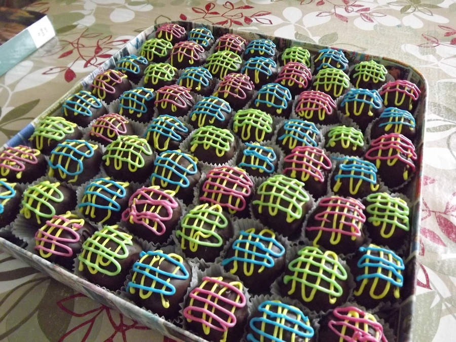 Rainbow Cakeballs on Cake Central