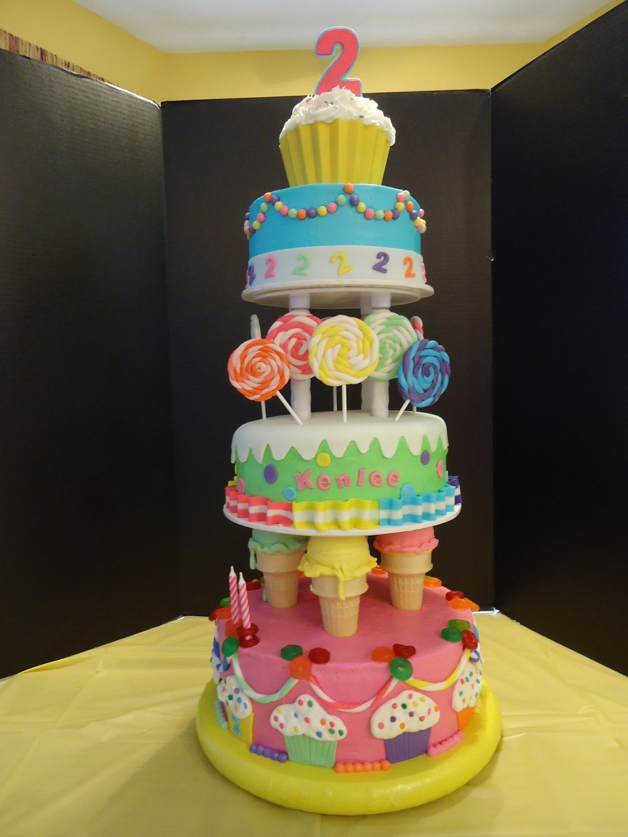 Kenlee's Candy Land Cake on Cake Central