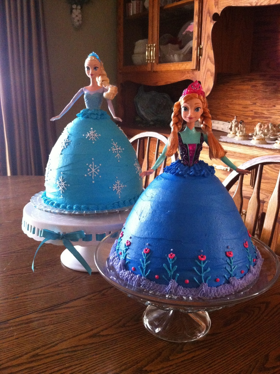 Elsa And Anna Birthday Cakes on Cake Central