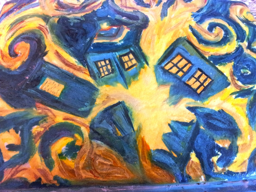 Doctor Who Exploding Tardis on Cake Central