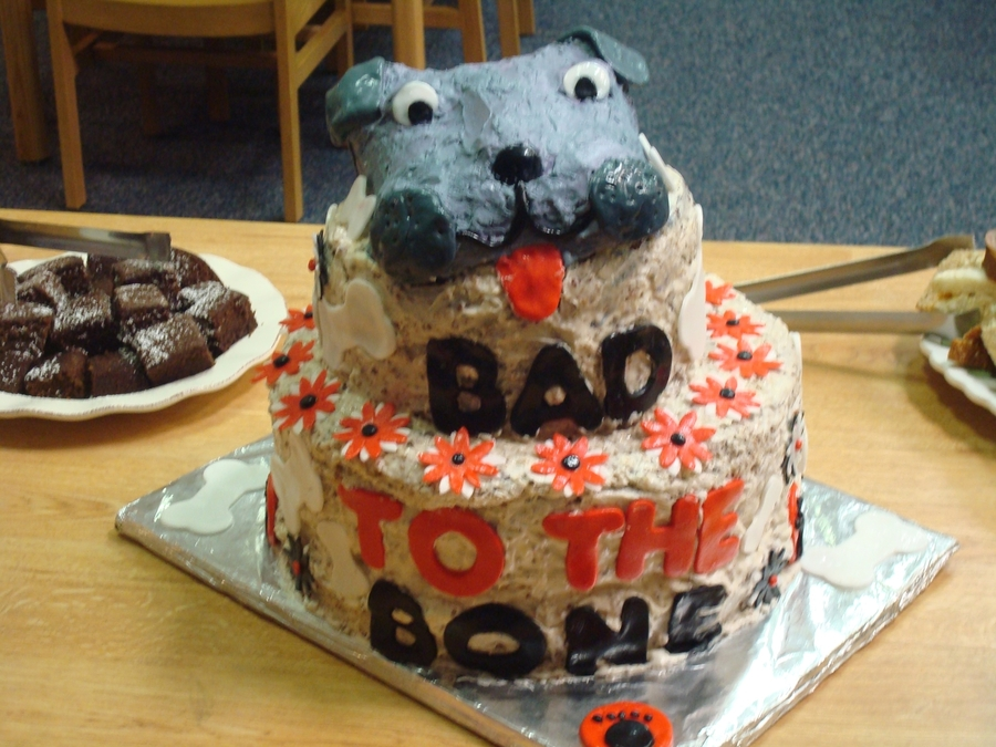Bad To The Bone Cake on Cake Central