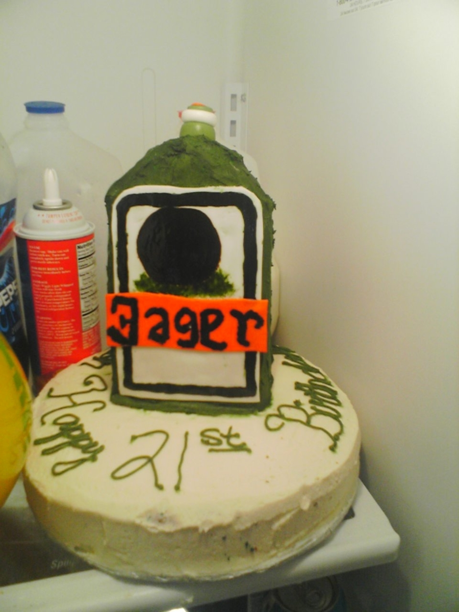 Yager 21St Birthday Cake on Cake Central