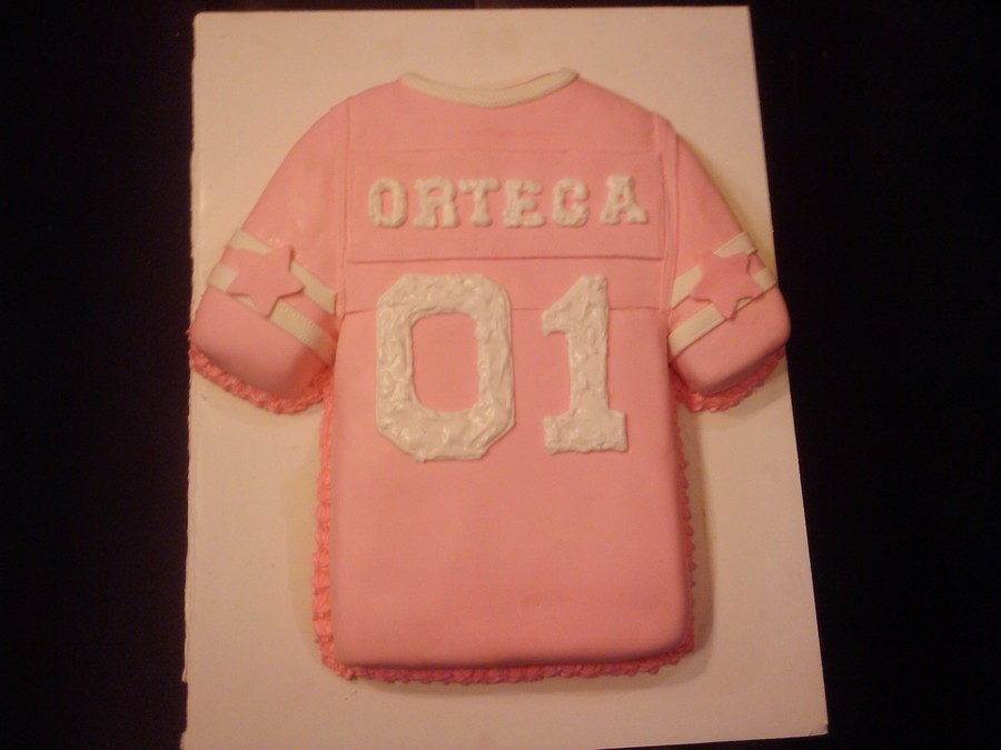 cheap for discount e5c26 2aab2 Pink Cowboy Jersey Cake - CakeCentral.com