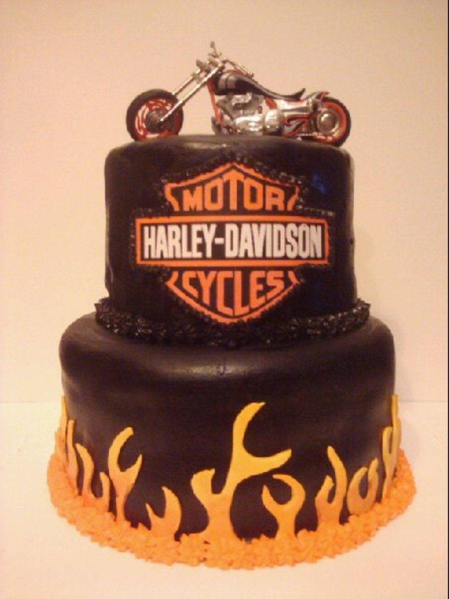 Awe Inspiring Harley Davidson Birthday Cake Cakecentral Com Funny Birthday Cards Online Overcheapnameinfo