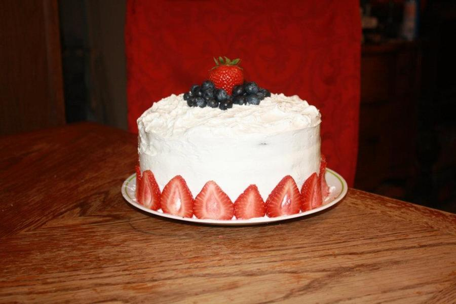 Strawberry Cake That When Cut Into It Shaped Like A American Flag on Cake Central