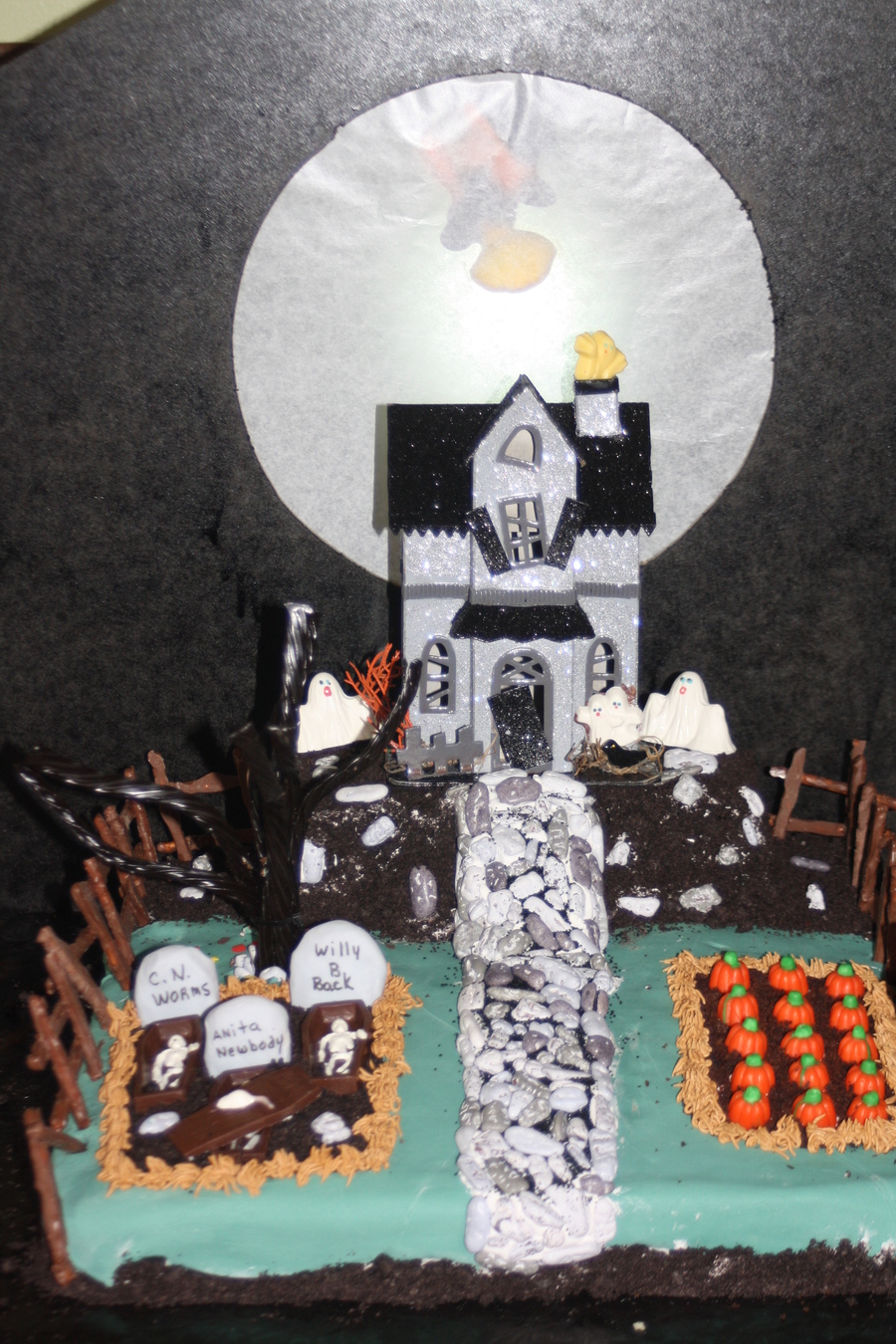 Awesome Haunted House Birthday Cake Cakecentral Com Personalised Birthday Cards Epsylily Jamesorg