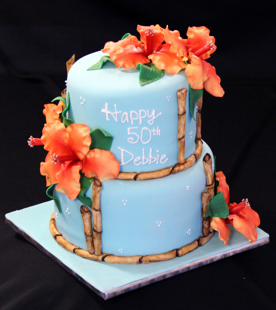 Admirable Hawaiian Birthday Cake Cakecentral Com Funny Birthday Cards Online Overcheapnameinfo