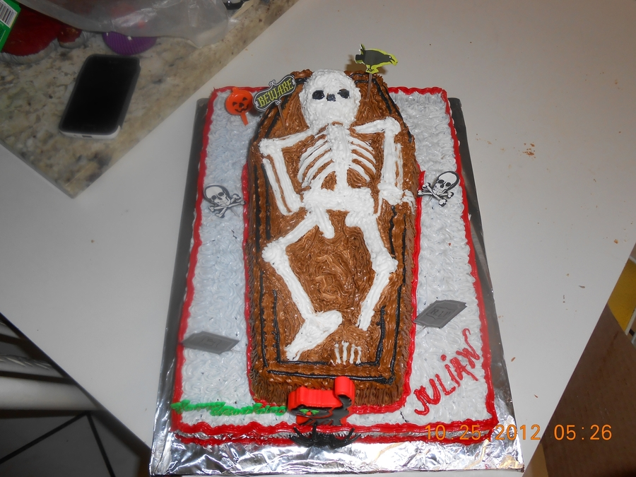 Casket Cake  on Cake Central