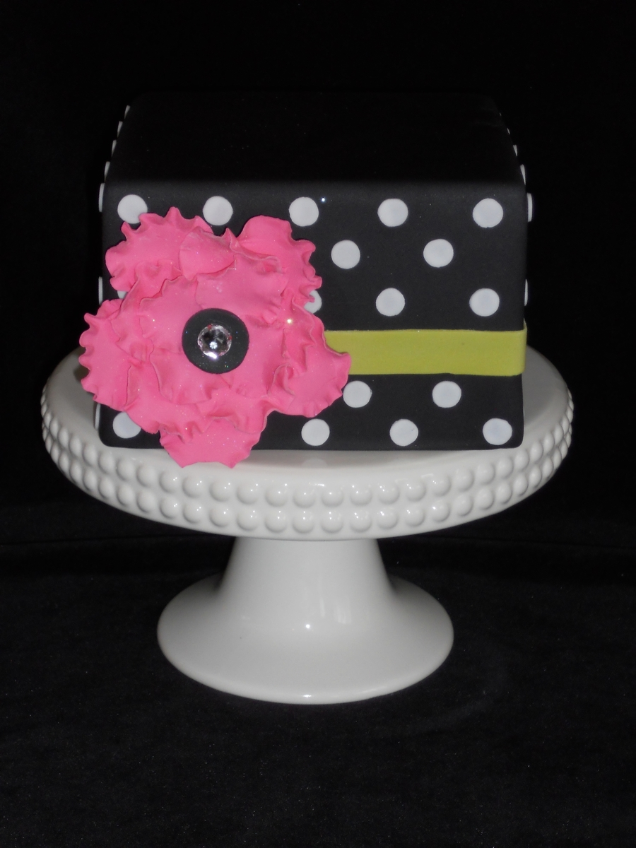 Black Dot Cake W/bling on Cake Central