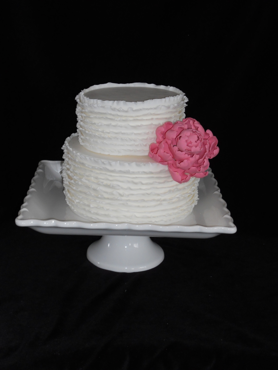 Ruffled Peony Cake on Cake Central