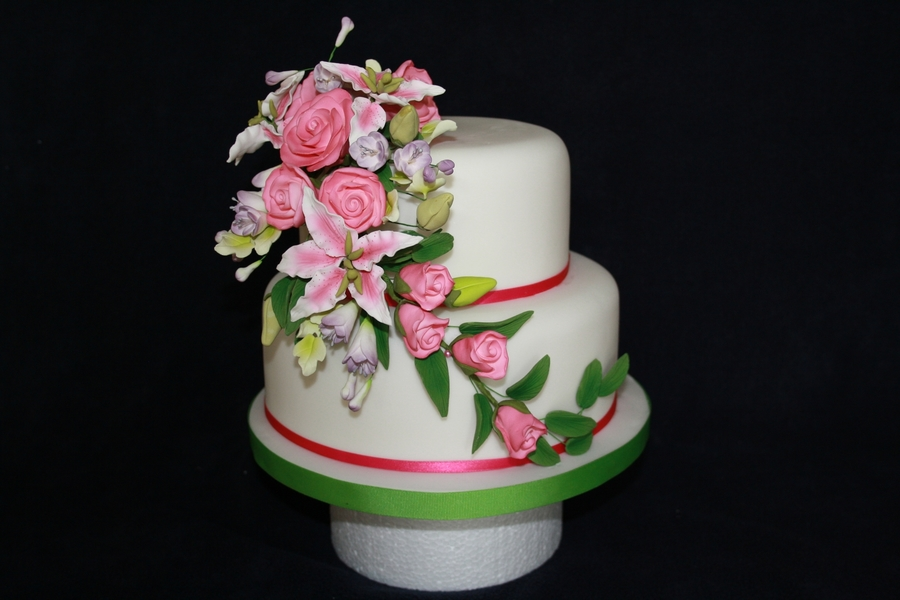 Spring Wedding on Cake Central
