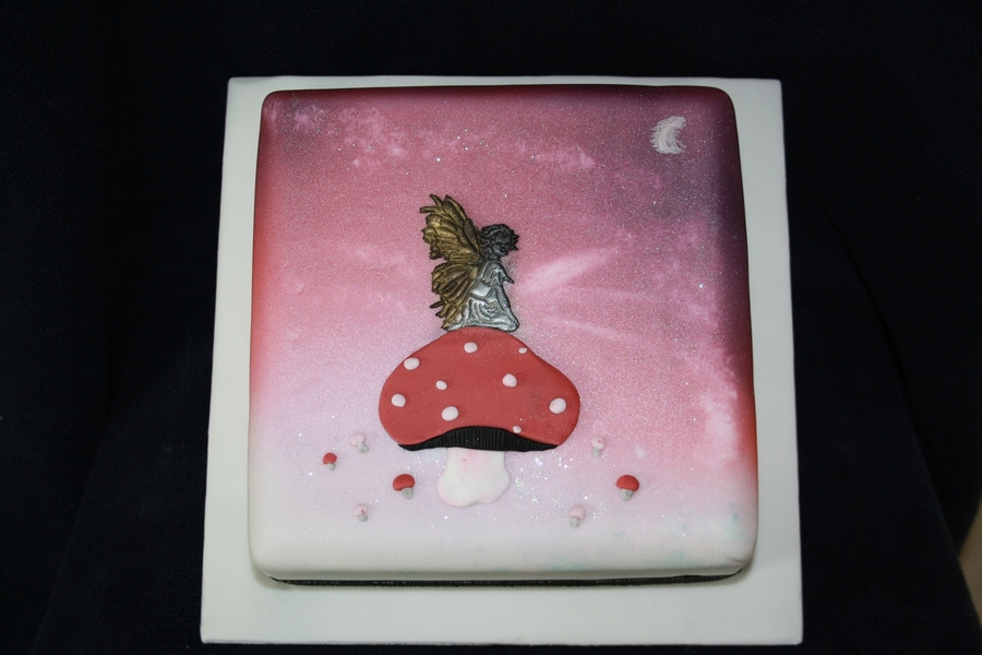 Toadstool Fairy on Cake Central