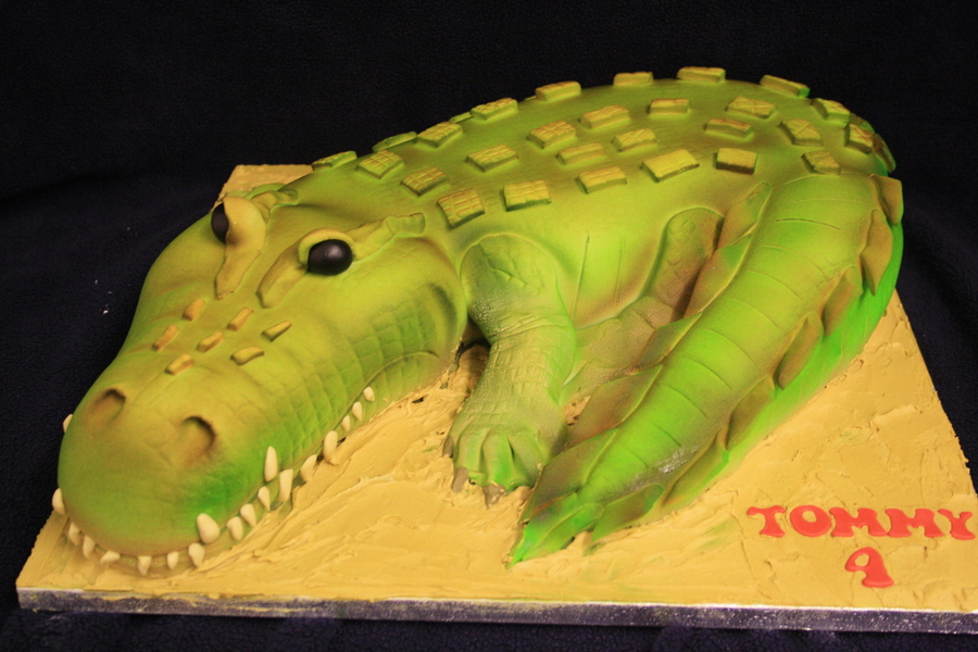 When I Was Asked If I Could Do A Crocodile I Said I Had Never Done One Before And That It Might Be A Bit Cartoony I Was Secretly Pleased on Cake Central