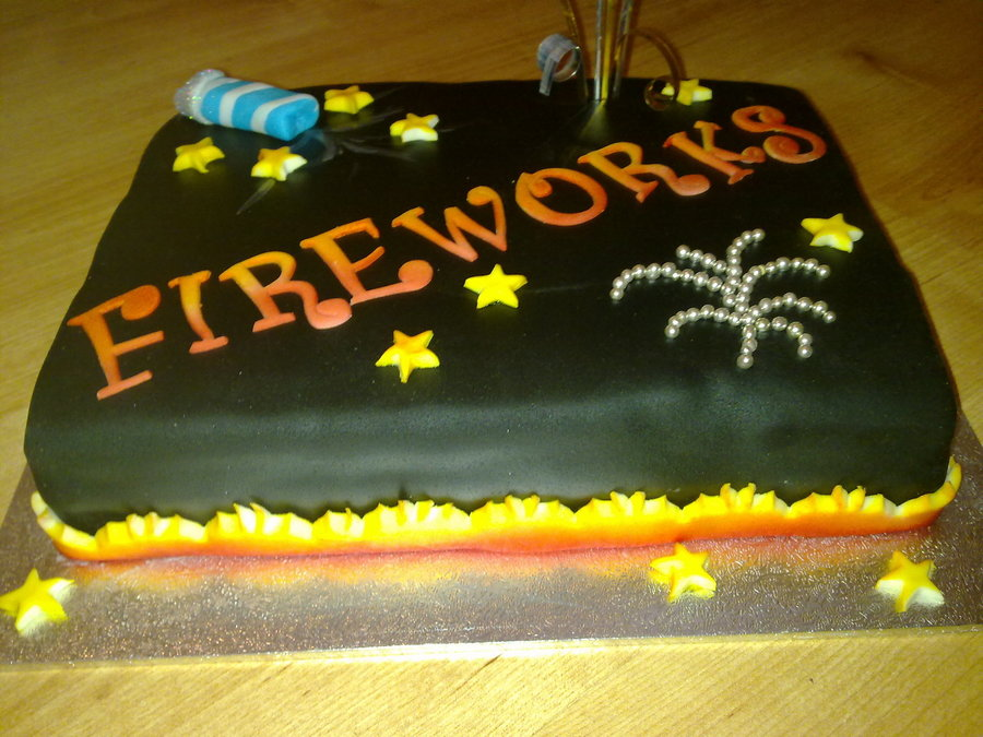 Fireworks  on Cake Central