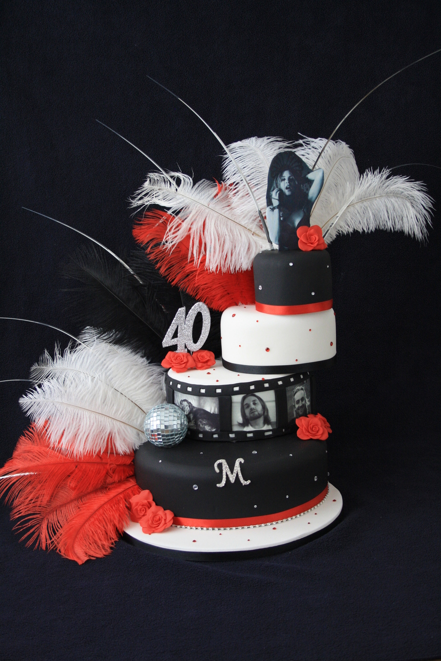 A Friend Asked Me To Make Him A Cake That Was Themed Glamour N Disco This Is What He Got He Said It Was A Bit Camp A Lot Him on Cake Central