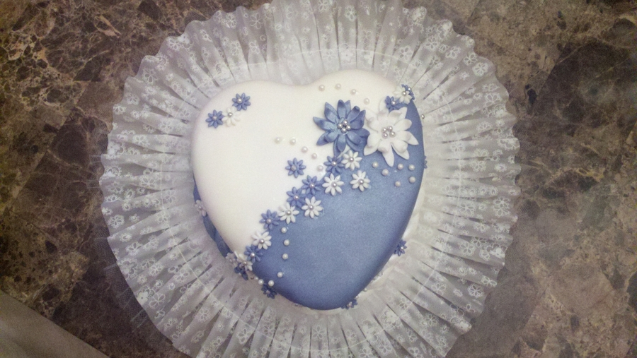 Small Heart Shaped Wedding Cake on Cake Central