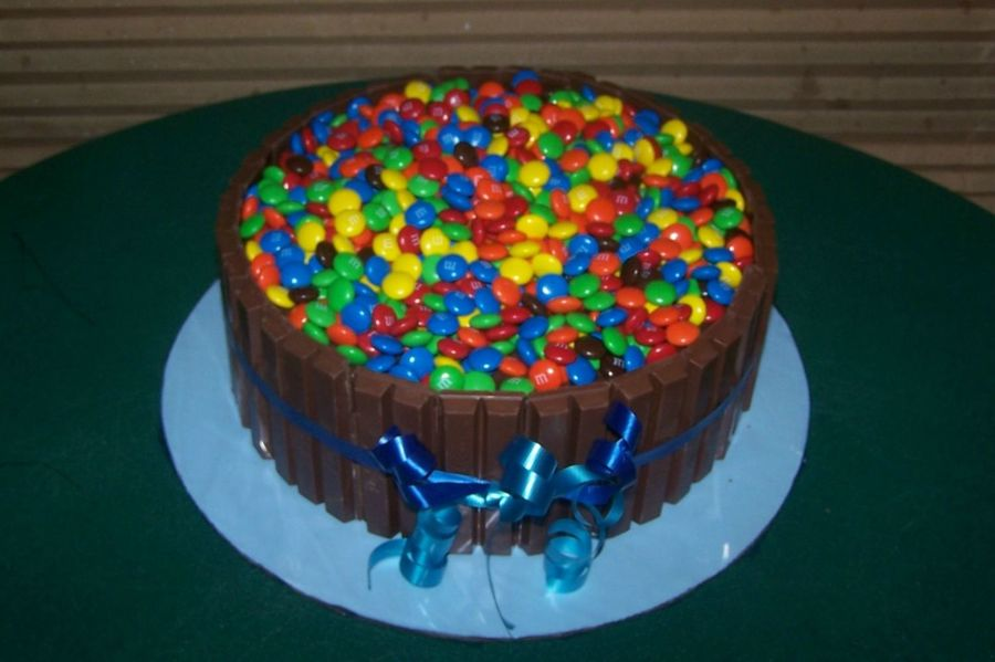 Barrel Of M&ms on Cake Central
