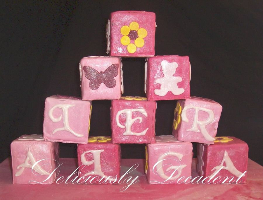 Allegra's Building Blocks  on Cake Central