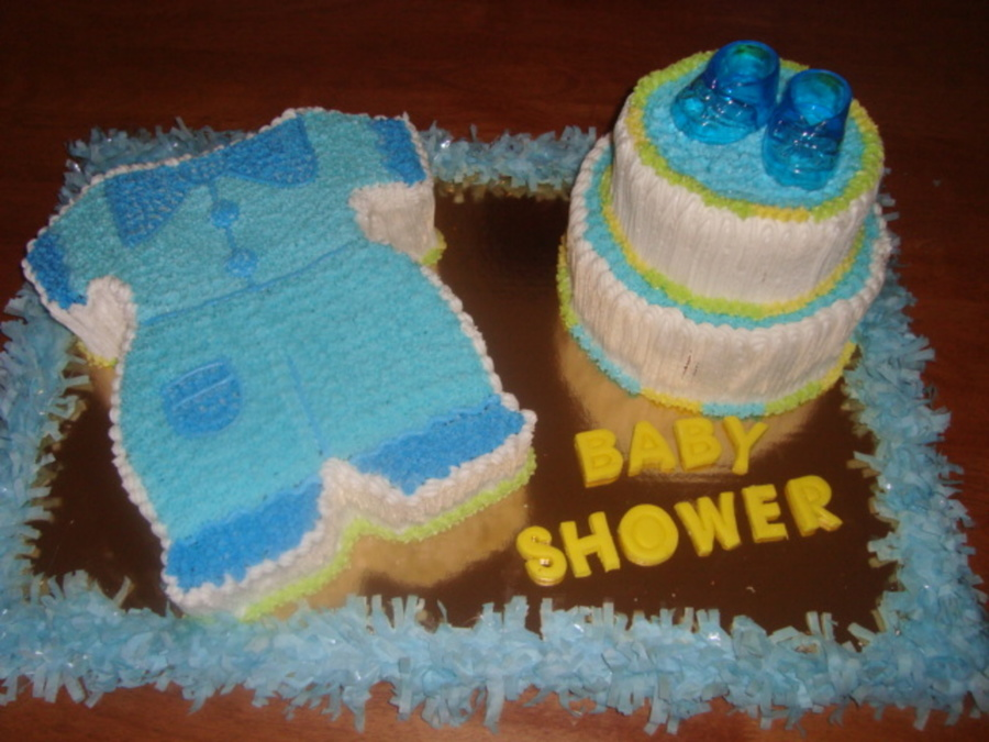 Baby Boy Jump Suit on Cake Central