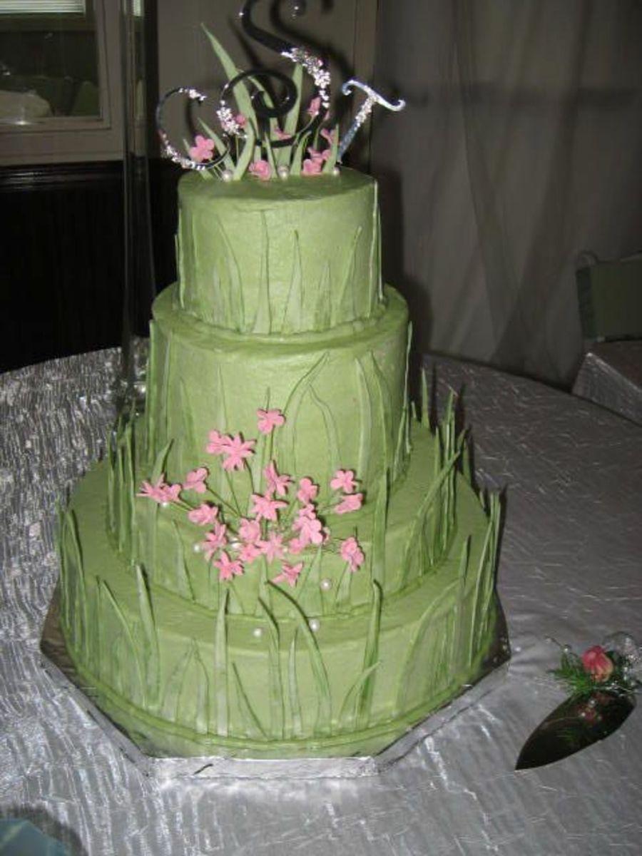 Green Grass Wedding Cake Cakecentral Com