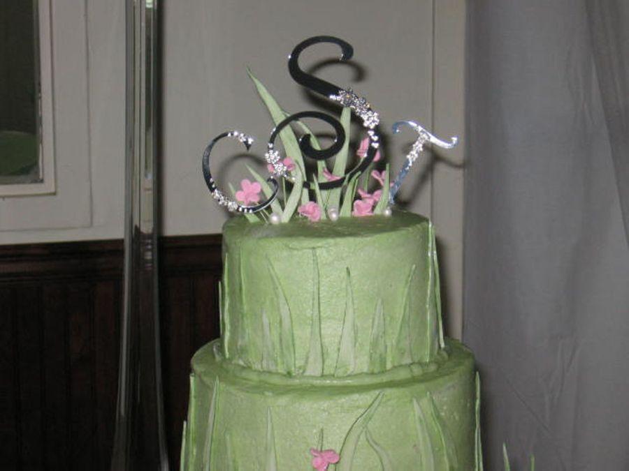 Green Grass Wedding Cake - CakeCentral.com