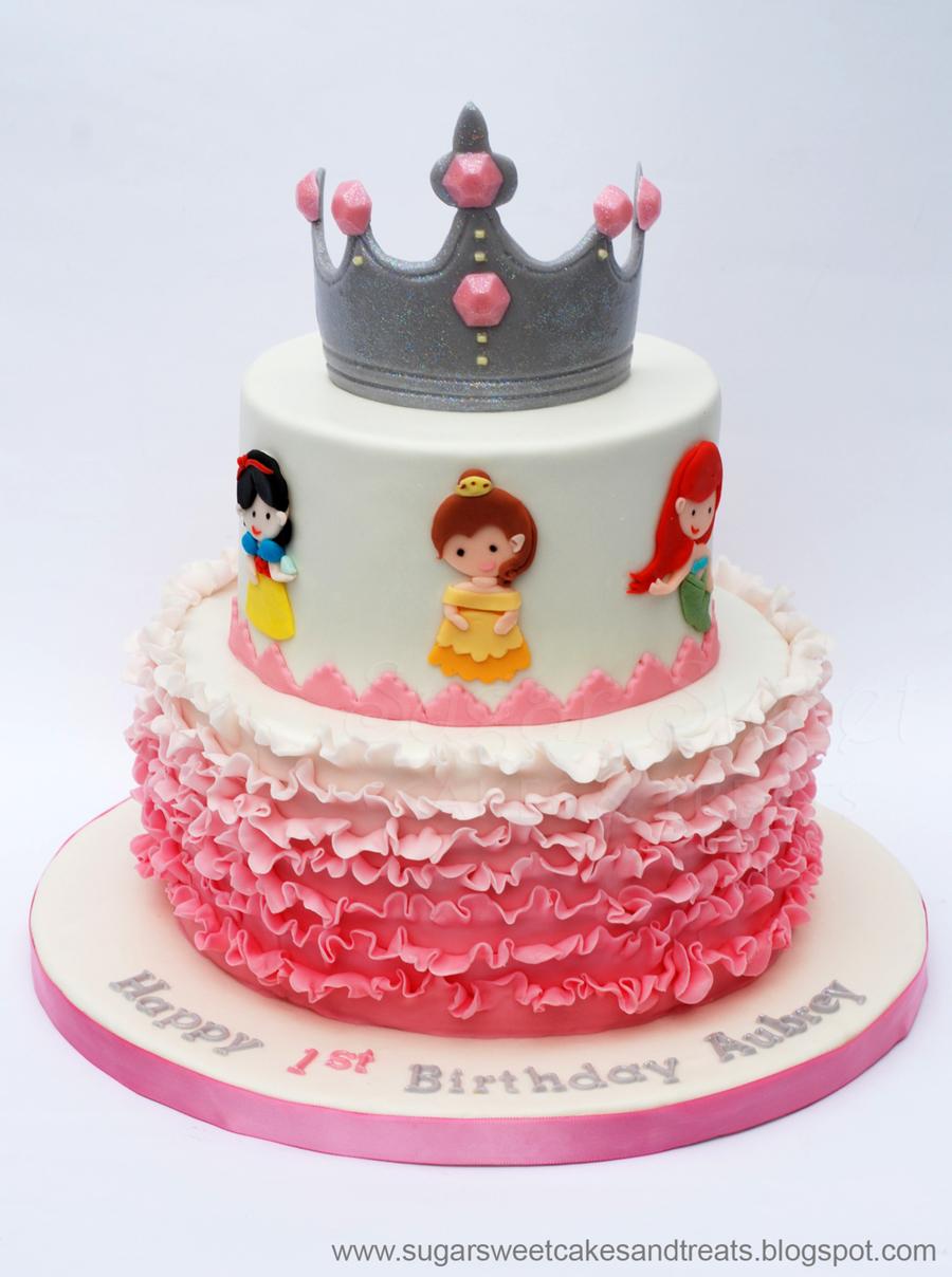 Ombre Ruffled Princess Cake Cakecentral Com
