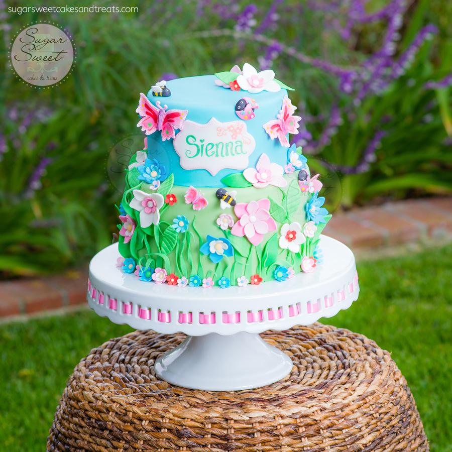 Spring Garden Cake - CakeCentral.com
