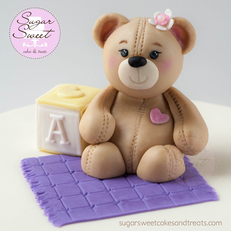 Teddy Bear Baby Shower Cake CakeCentral