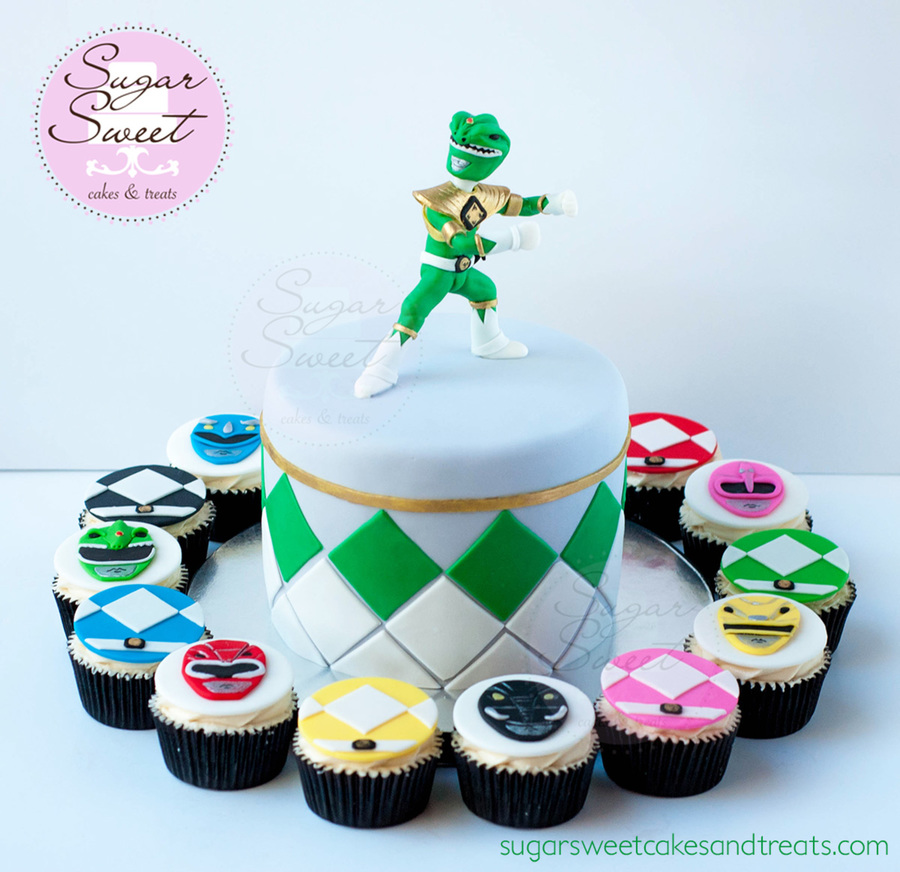 Mighty Morphin Power Ranger Cake And Cupcakes