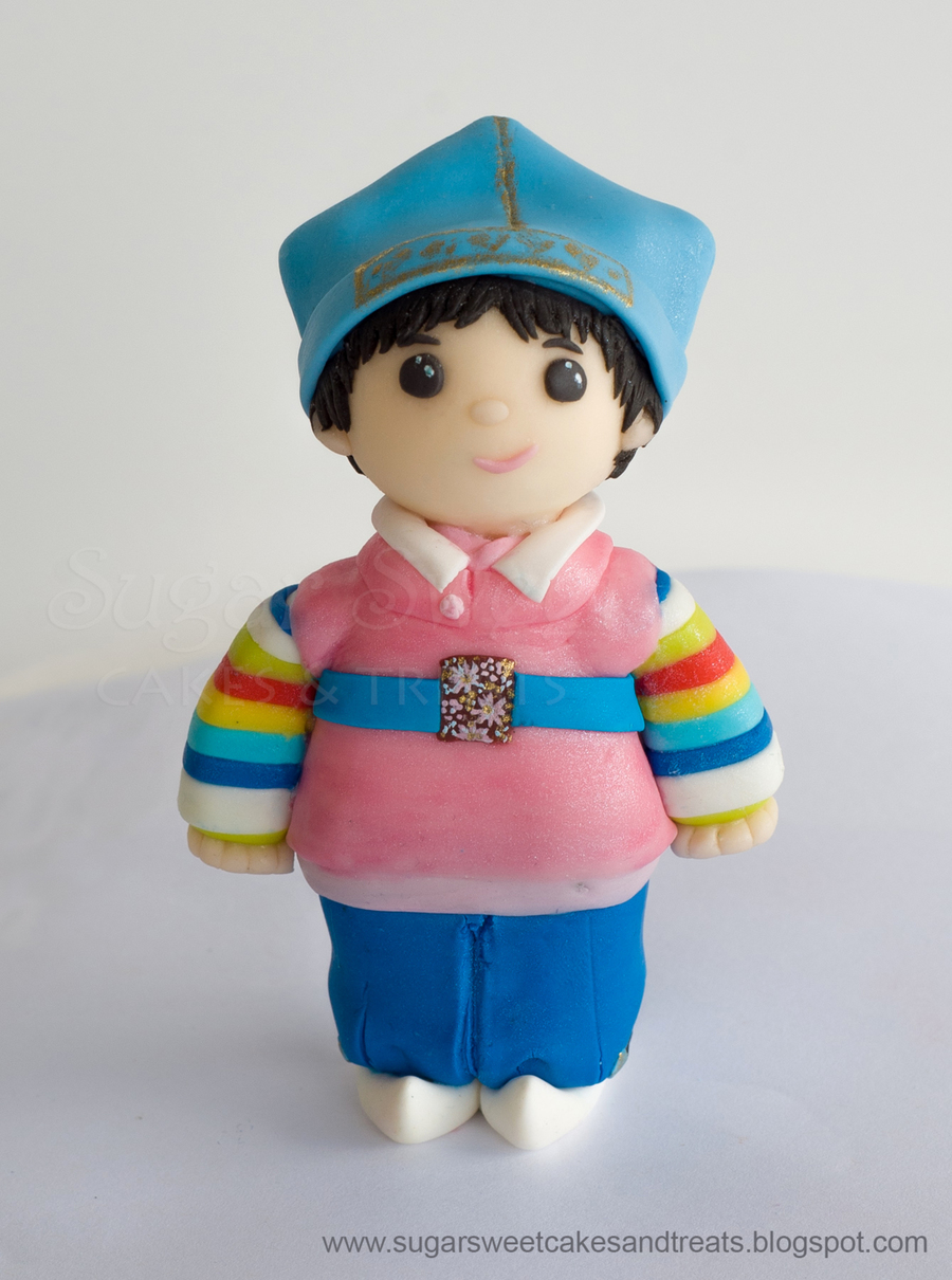 Korean Hanbok Dol Figurine on Cake Central