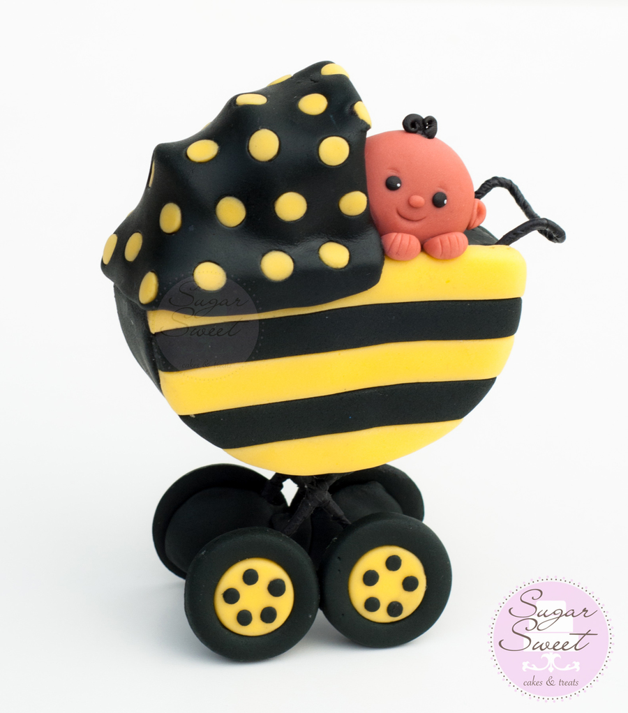 Baby Stroller Cake Topper On Central A Bumble Bee