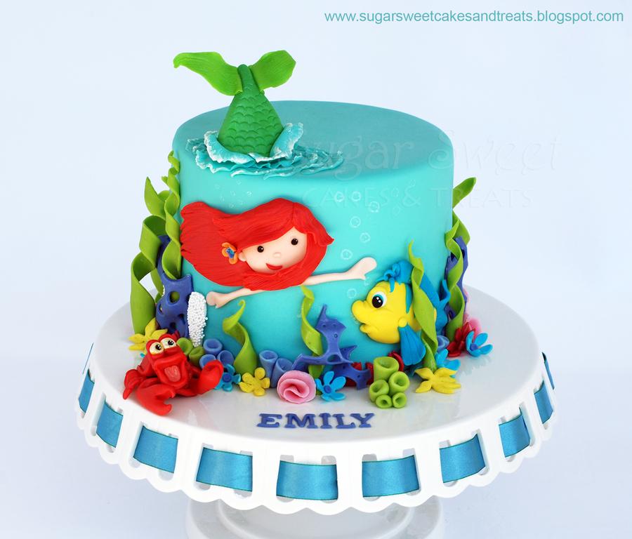 Little Mermaid Ariel Cake - CakeCentral.com