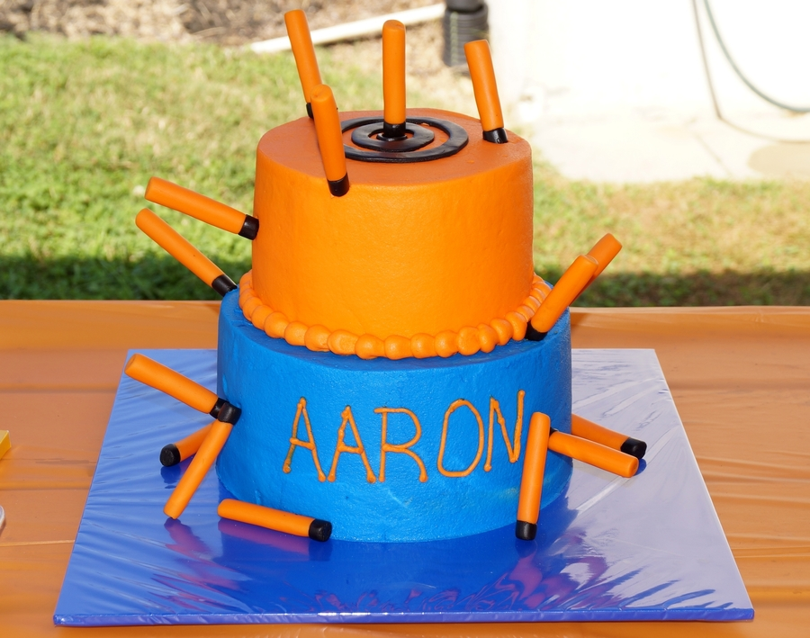 Nerf Cake With Bullets on Cake Central