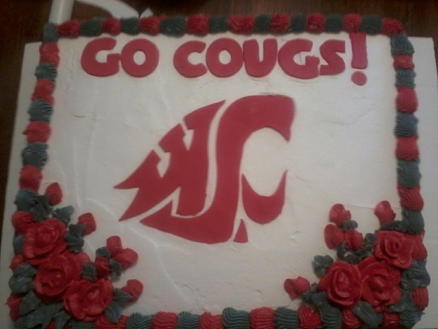 Wsu Cougar Cake on Cake Central
