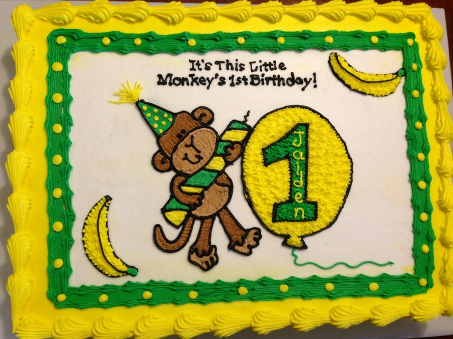 Monkey Cake Marble Cake With Buttercream Image on Cake Central