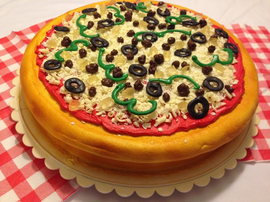 Pizza Cake Decorating