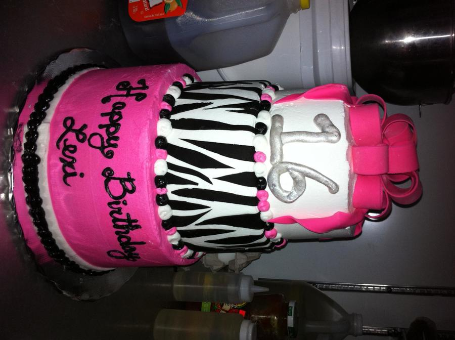 Hot Pink Black N White on Cake Central