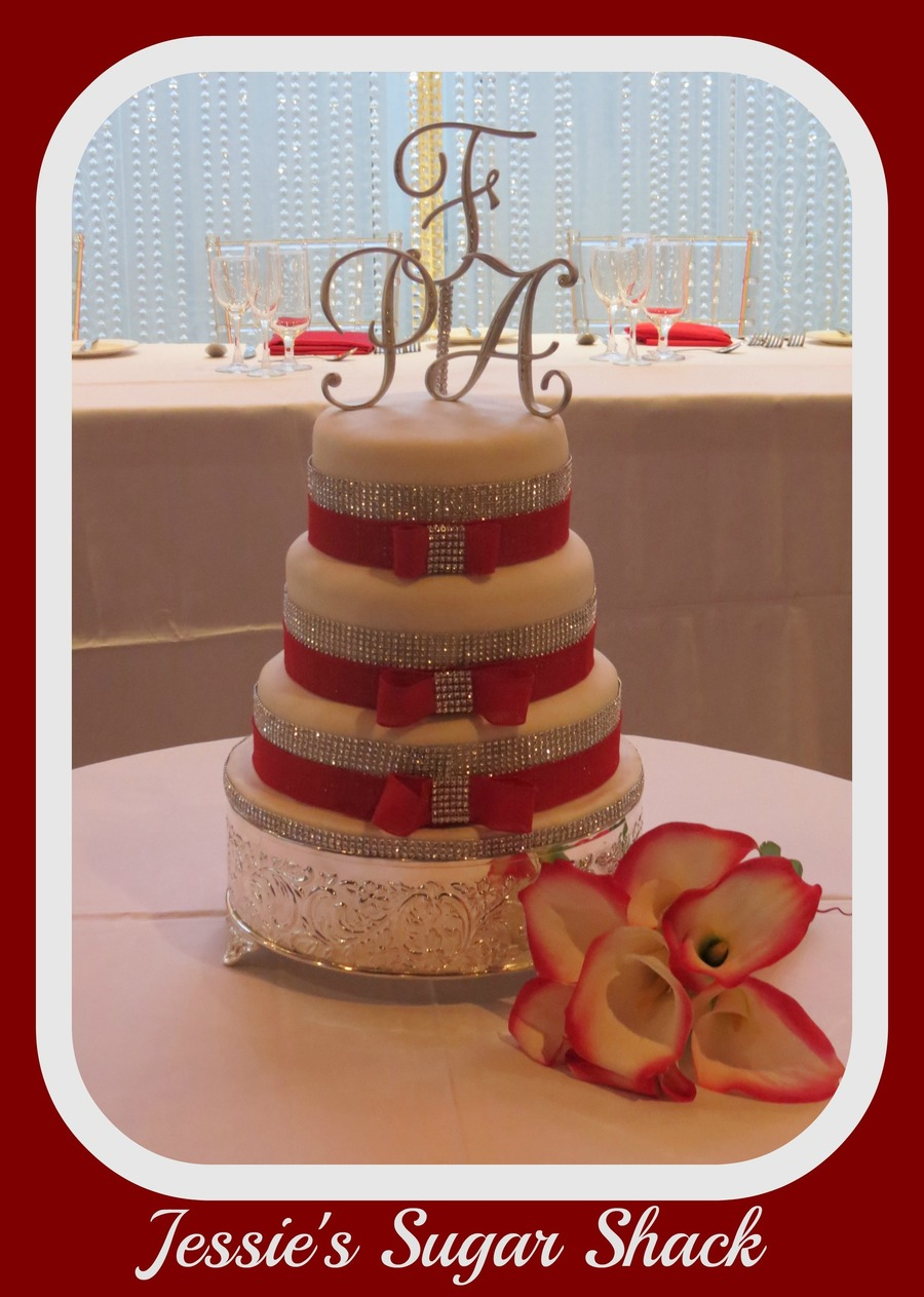 Angela's Winter Wonderland Wedding Cake on Cake Central