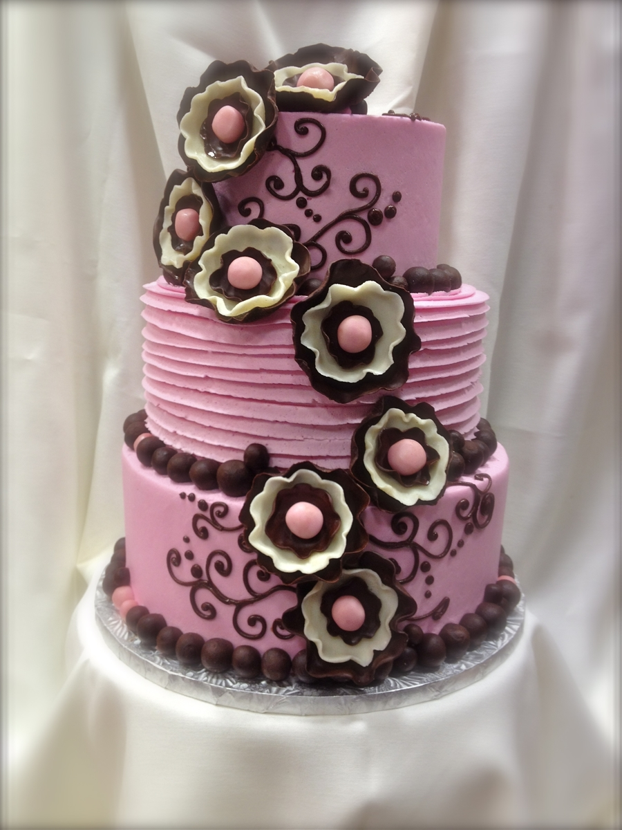 Pink And Chocolate on Cake Central