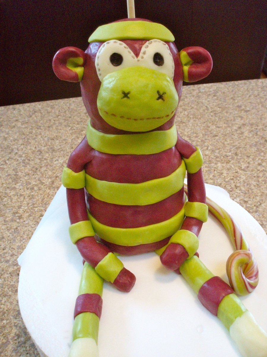 Modeling Chocolate Sock Monkey on Cake Central
