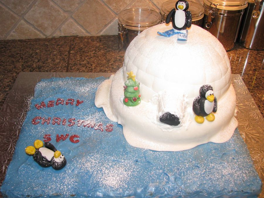 Holiday Penguin/igloo Cake on Cake Central
