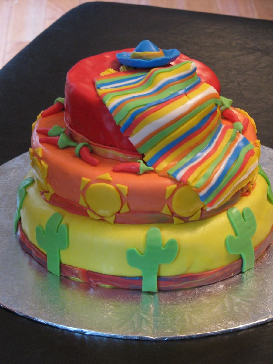 mexican birthday cake mexican birthday theme cakecentral 5851
