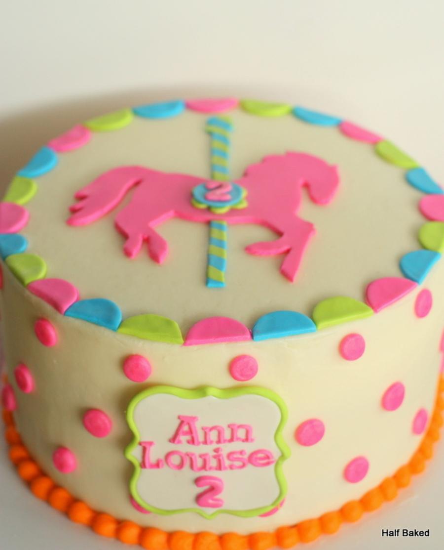 Carousel Cake Buttercream Cake With Fondant Decorations Design Based