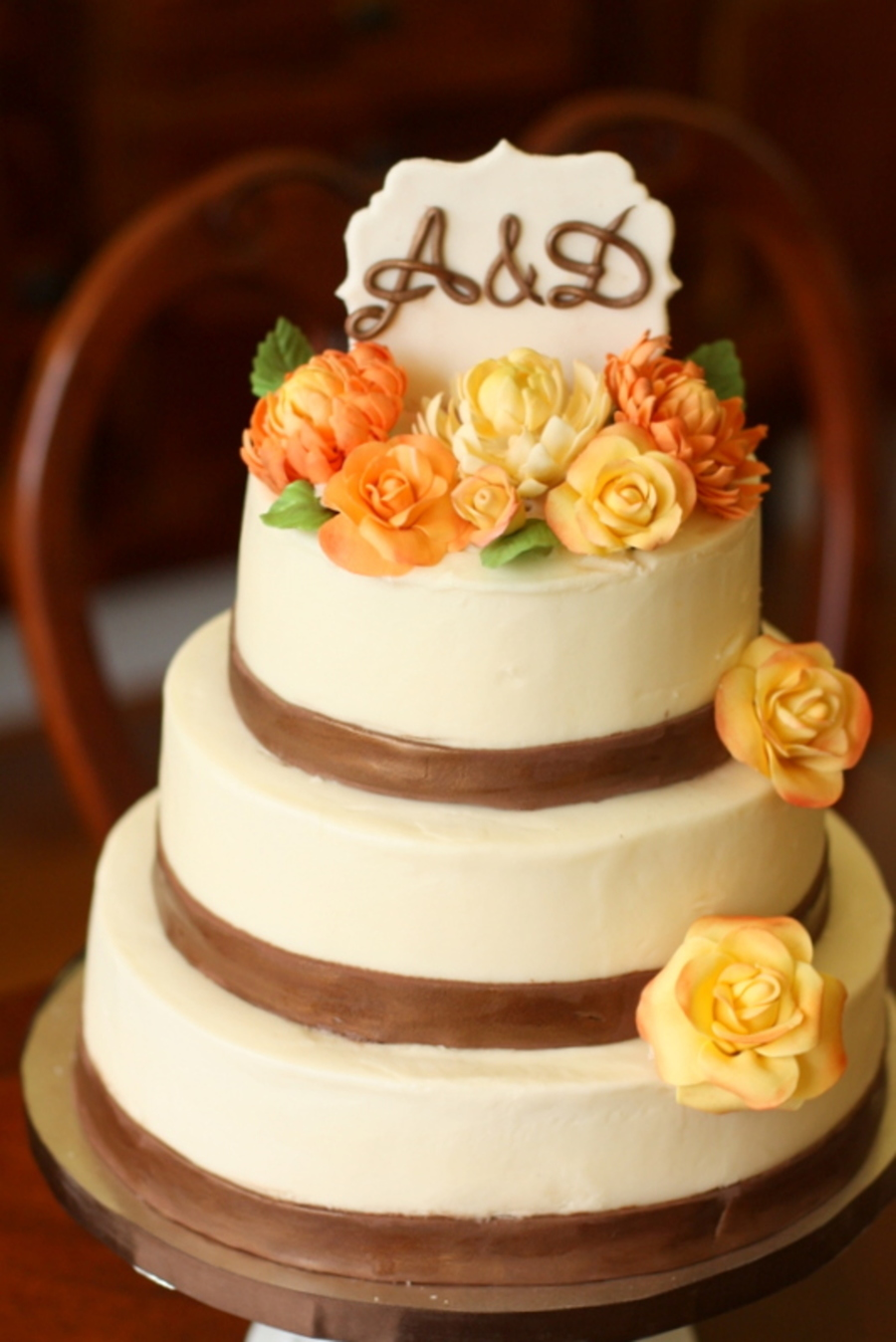 Rustic Fall Themed Wedding Cake Everything On The Cake Is Edible