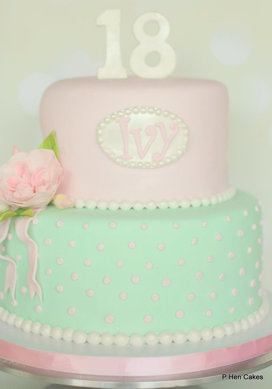 Shabby Chic Vintage Inspired 18th Birthday Cake Cakes